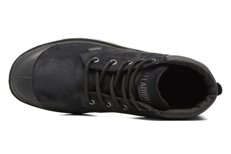 Bottines et boots Palladium Pampa Lo Cuff Sue Noir vue gauche