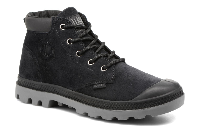 Bottines et boots Palladium Pampa Lo Cuff Sue Noir vue détail/paire