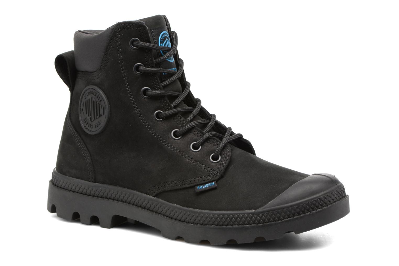 Zapatos casuales salvajes Palladium Pampa Cuff WP LUX W (Negro) - Botines  en Más cómodo