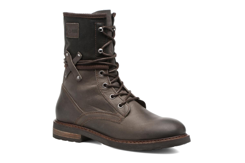 Bottines et boots P-L-D-M By Palladium Bupswing Mix Marron vue détail/paire