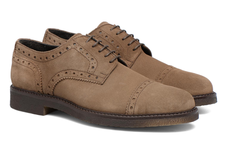 Chaussures à lacets Mr SARENZA Clent Beige vue derrière