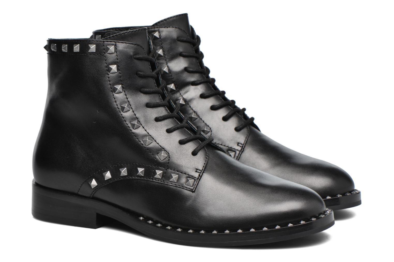 Bottines et boots Ash Whynot Noir vue 3/4