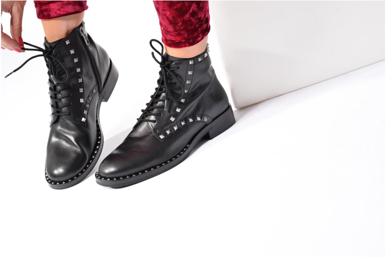 Bottines et boots Ash Whynot Noir vue bas / vue portée sac