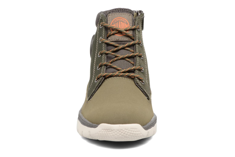 Bottines et boots Palladium Plvil Trg Mid K Vert vue portées chaussures