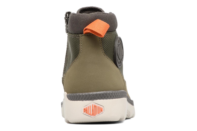 Bottines et boots Palladium Plvil Trg Mid K Vert vue droite