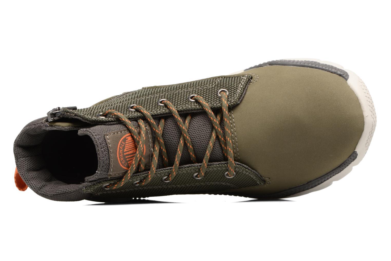 Bottines et boots Palladium Plvil Trg Mid K Vert vue gauche