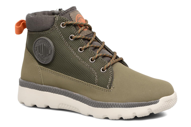 Bottines et boots Palladium Plvil Trg Mid K Vert vue détail/paire