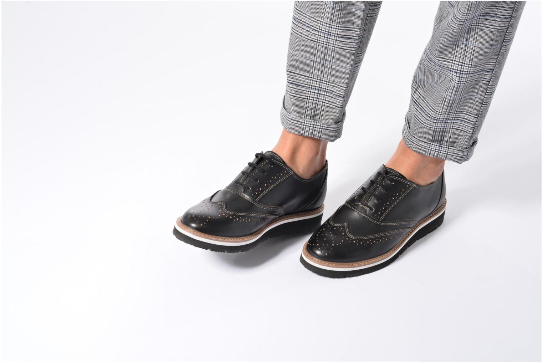 Chaussures à lacets TBS Calissa Noir vue bas / vue portée sac
