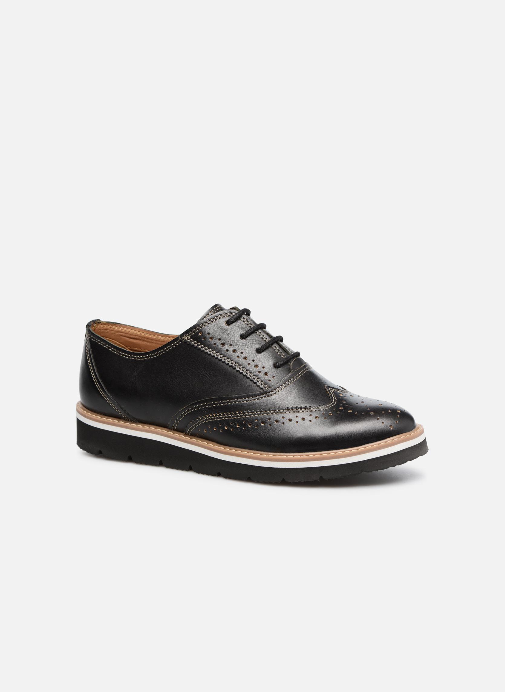 Chaussures à lacets TBS Calissa Noir vue détail/paire