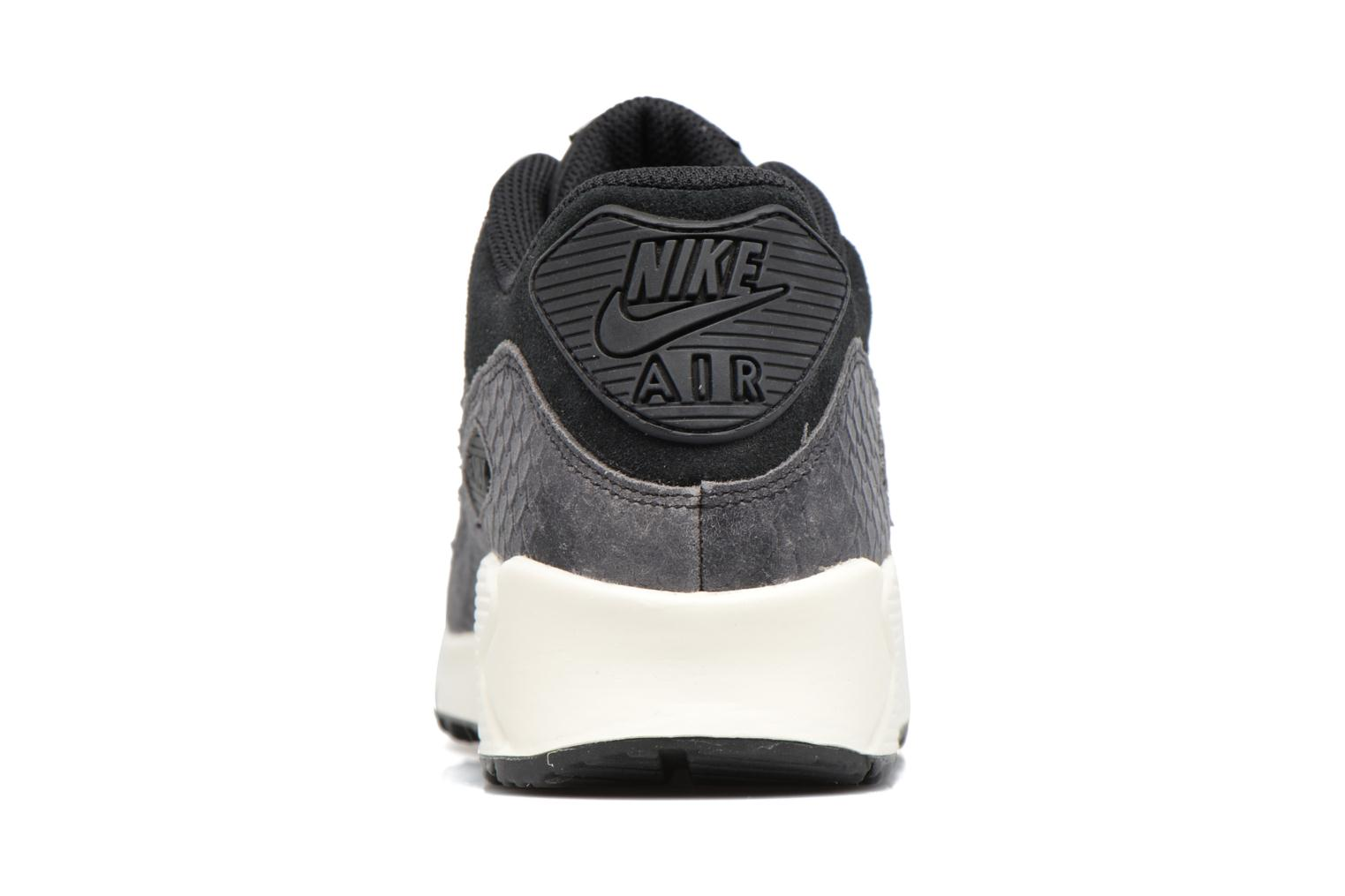Wmns Air Max 90 Prm Black/Black-Sail-Dark Grey