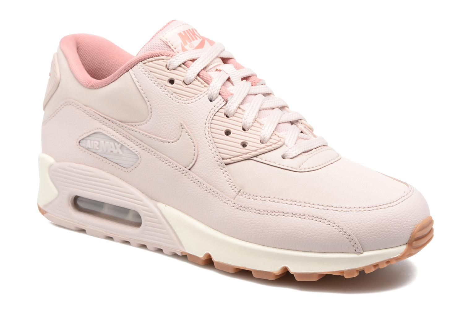 Wmns Air Max 90 Lea Silt Red/Silt Red-Red Stardust-Sail