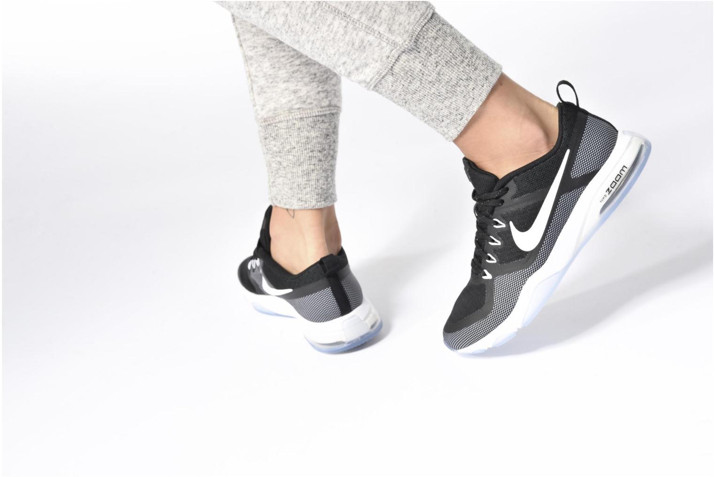 Sportschuhe Nike Wmns Nike Air Zoom Fitness schwarz ansicht von unten / tasche getragen