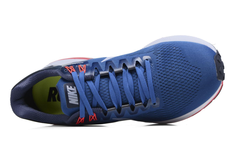 Chaussures de sport Nike Nike Air Zoom Structure 21 Bleu vue gauche