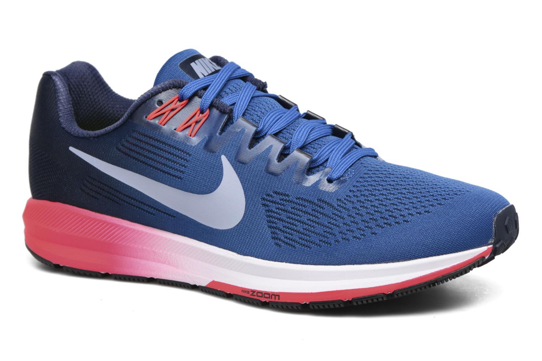 Chaussures de sport Nike Nike Air Zoom Structure 21 Bleu vue détail/paire