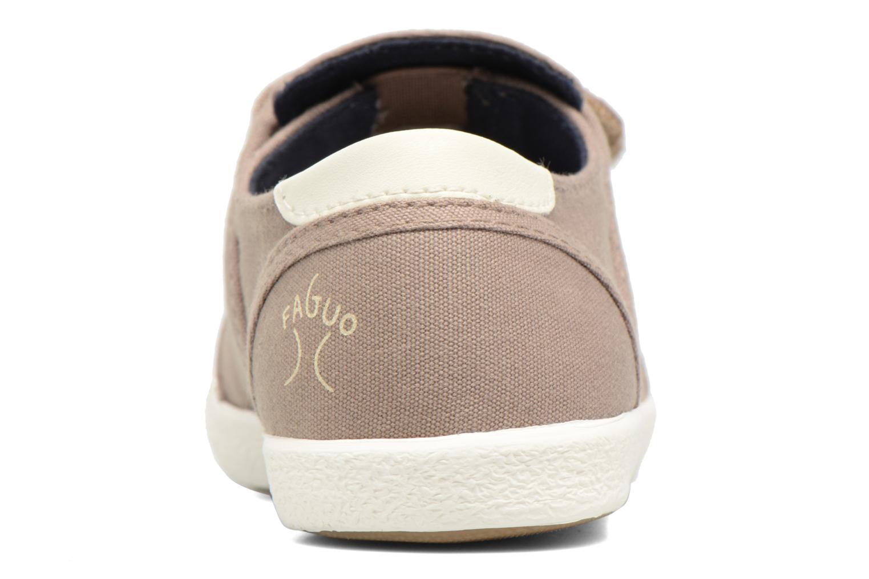 Baskets Faguo Cypress Velcro Marron vue droite