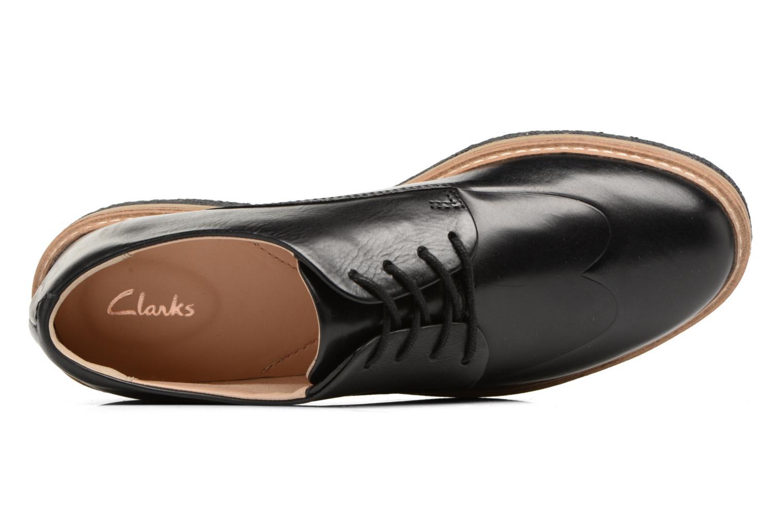 Chaussures à lacets Clarks Zante Zara Noir vue gauche
