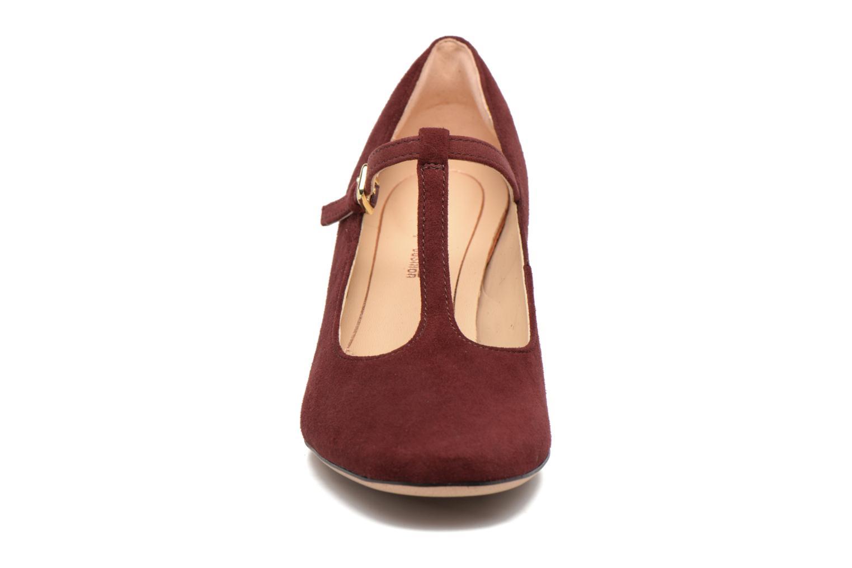 Escarpins Clarks Orabella Fern Bordeaux vue portées chaussures