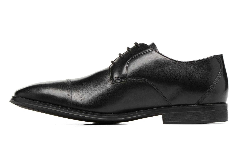 Chaussures à lacets Clarks Gilman Cap Noir vue face
