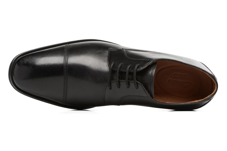 Chaussures à lacets Clarks Gilman Cap Noir vue gauche