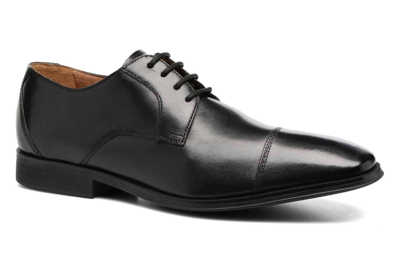 Chaussures à lacets Clarks Gilman Cap Noir vue détail/paire