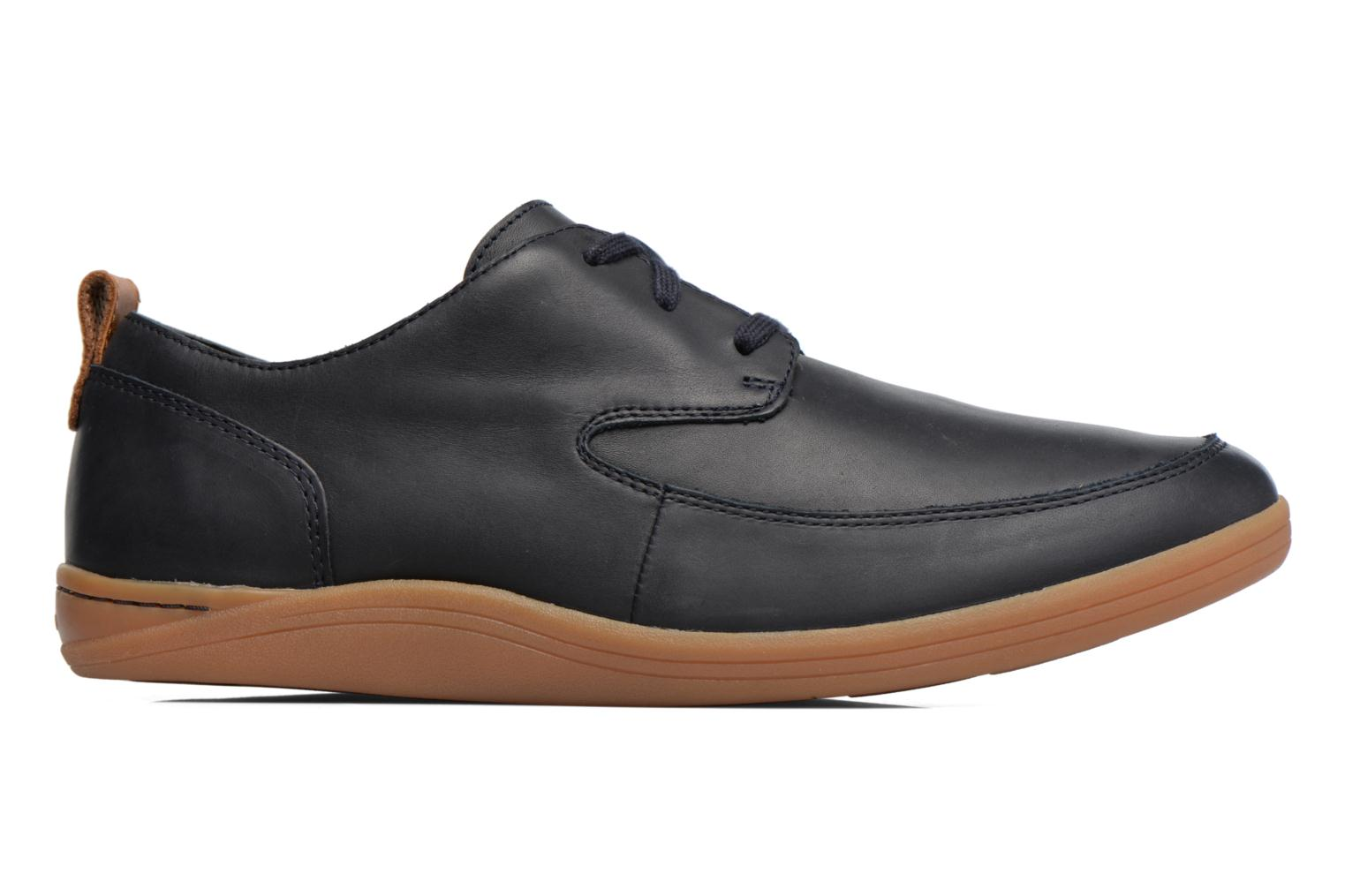 Navy leather Clarks Mapped Lo (Bleu)