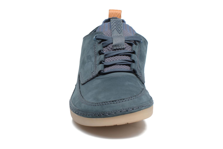 Baskets Clarks Nature IV. Bleu vue portées chaussures