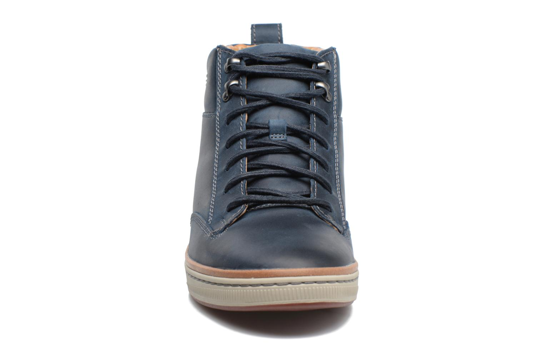 Baskets Clarks Norsen Mid Bleu vue portées chaussures