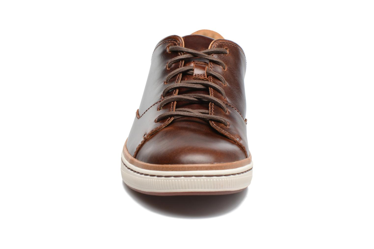 Dark Tan Lea Clarks Norsen Lace (Marron)