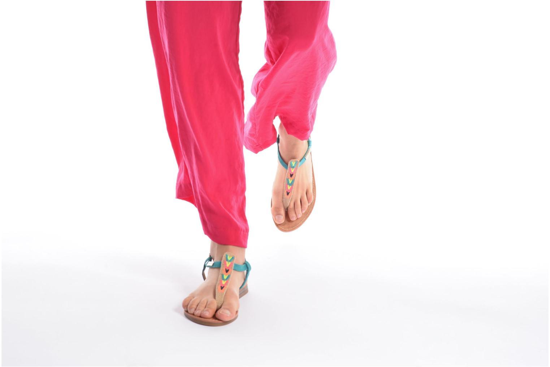 Sandales et nu-pieds Les Tropéziennes par M Belarbi Geronima Rouge vue bas / vue portée sac