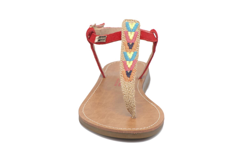 Sandales et nu-pieds Les Tropéziennes par M Belarbi Geronima Rouge vue portées chaussures