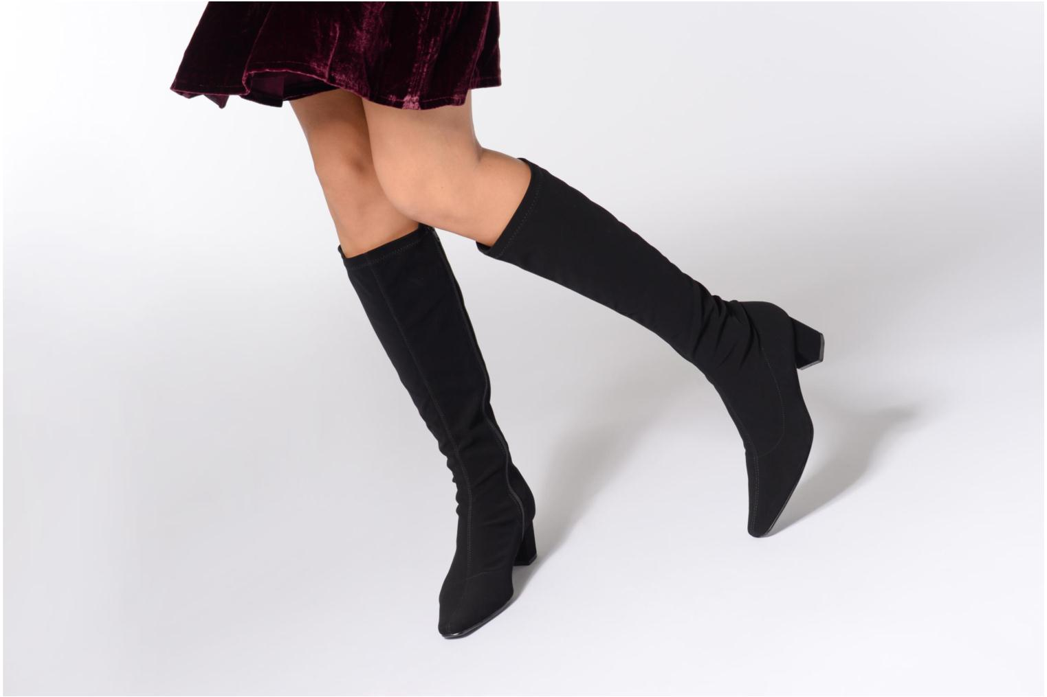 Boots & wellies Georgia Rose Tiwal Black view from underneath / model view