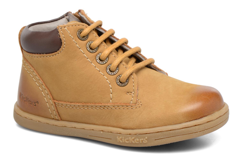 Bottines et boots Kickers Tackland Marron vue détail/paire