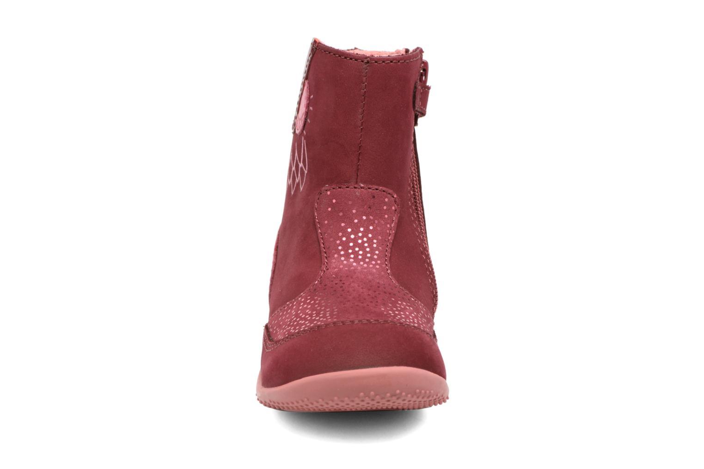 Bottes Kickers Bretzelle Rose vue portées chaussures