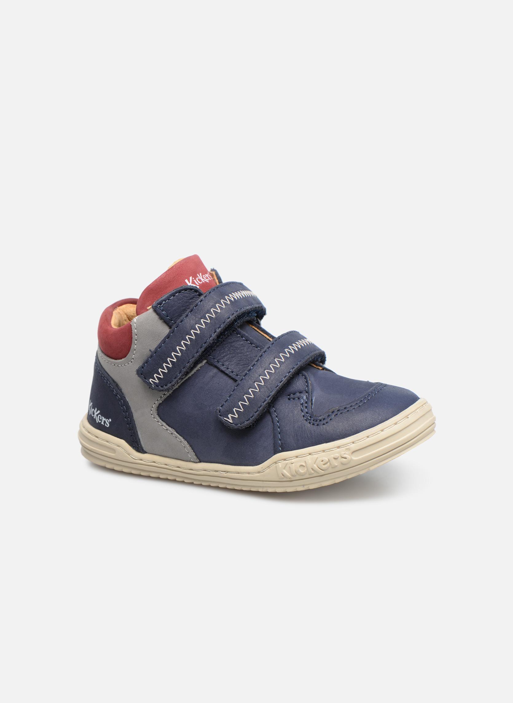 Bottines et boots Kickers Jordie Bleu vue détail/paire
