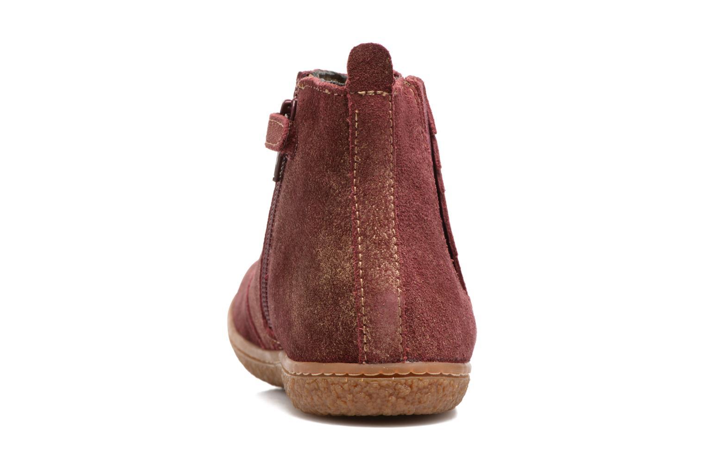Bottines et boots Kickers Vinciane Bordeaux vue droite