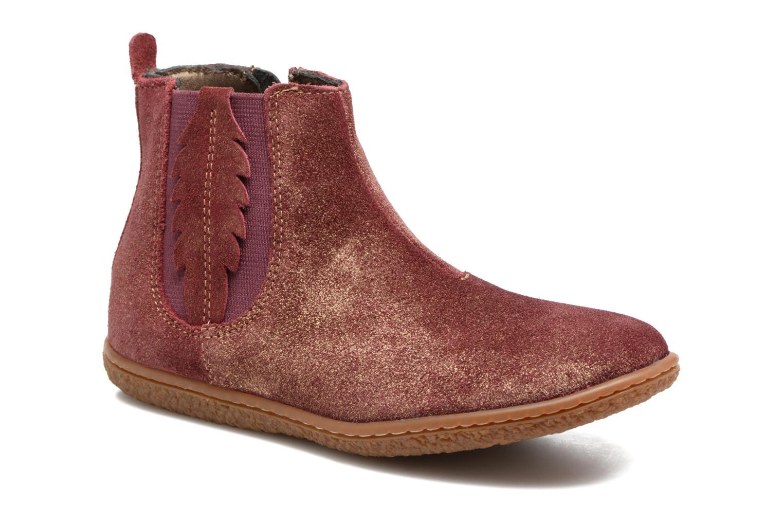 Bottines et boots Kickers Vinciane Bordeaux vue détail/paire