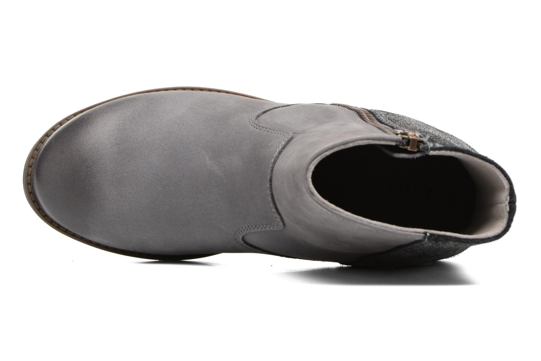 Bottines et boots Kickers Rox Gris vue gauche