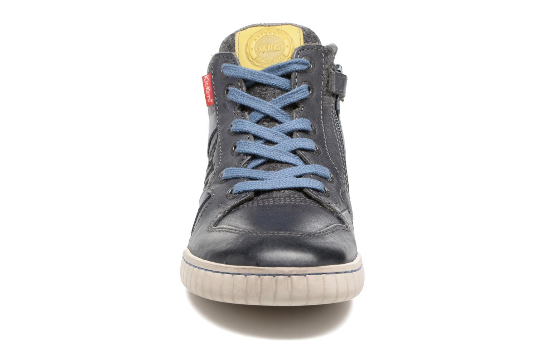 Baskets Kickers Wazabi Gris vue portées chaussures
