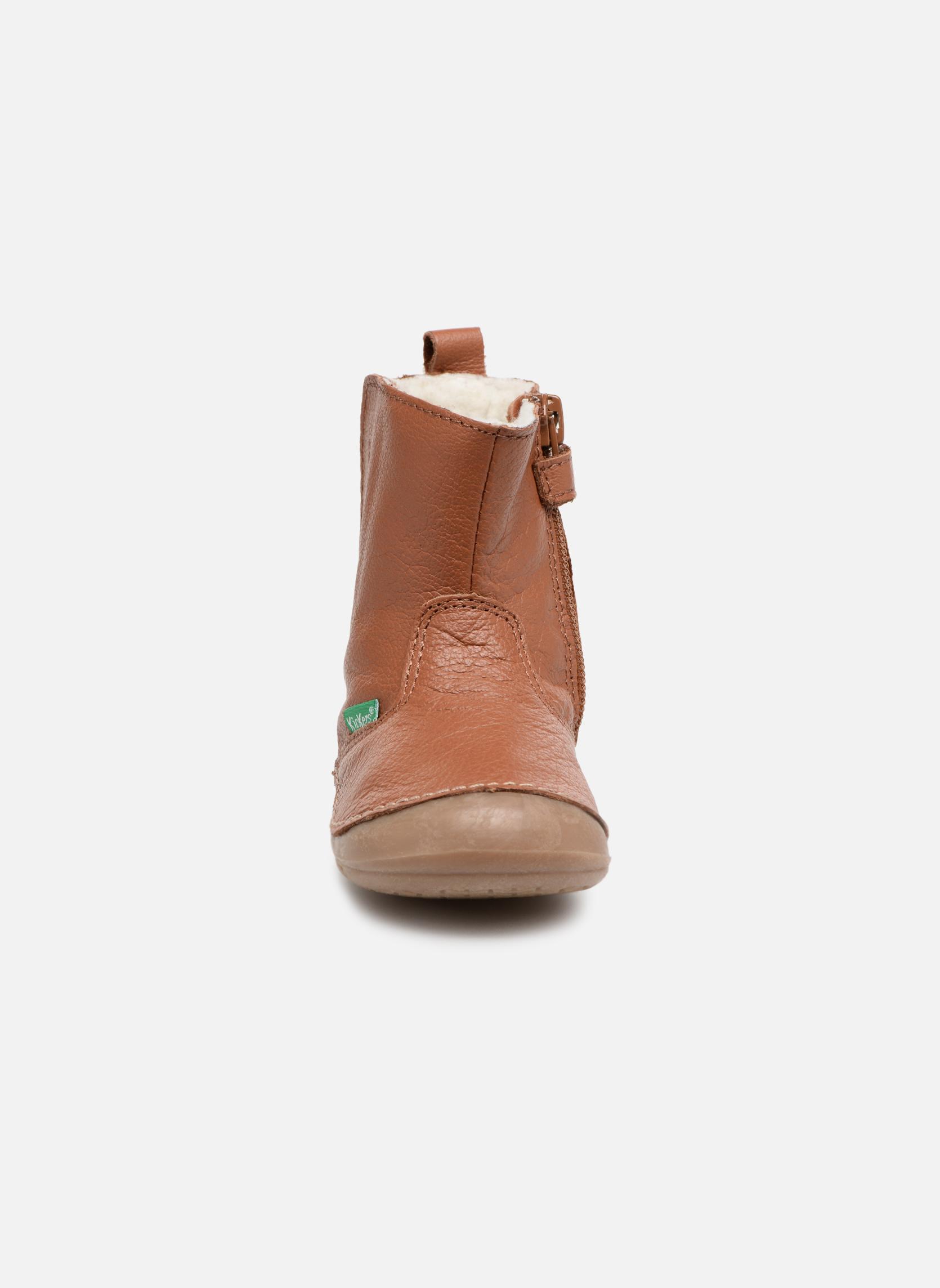 Bottes Kickers Socool Marron vue portées chaussures