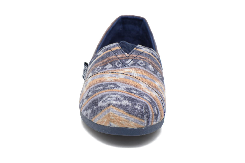 Espadrilles Skechers Bobs Plush Wonder Bleu vue portées chaussures