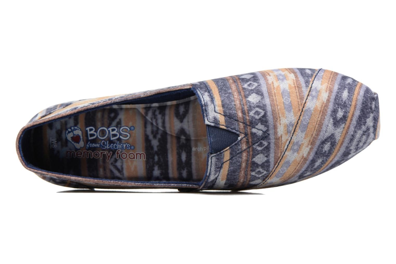 Espadrilles Skechers Bobs Plush Wonder Bleu vue gauche