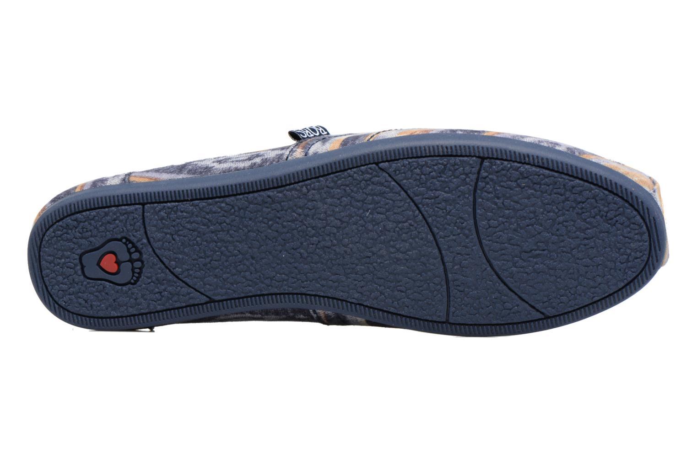 Espadrilles Skechers Bobs Plush Wonder Bleu vue haut