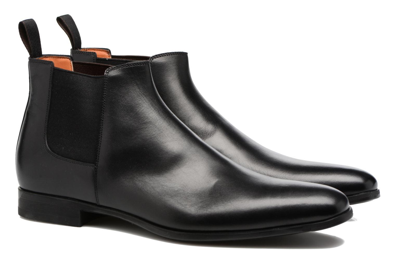 Bottines et boots Santoni William 15312 Noir vue 3/4