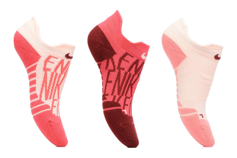 Chaussettes et collants Nike Women's Nike Dry Cushion Low GFX Training Sock (3 Pair) Rouge vue détail/paire