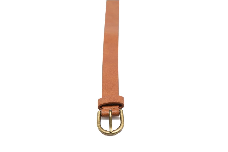 Belts Pieces Elegance Slim Leather belt 18mm Brown model view