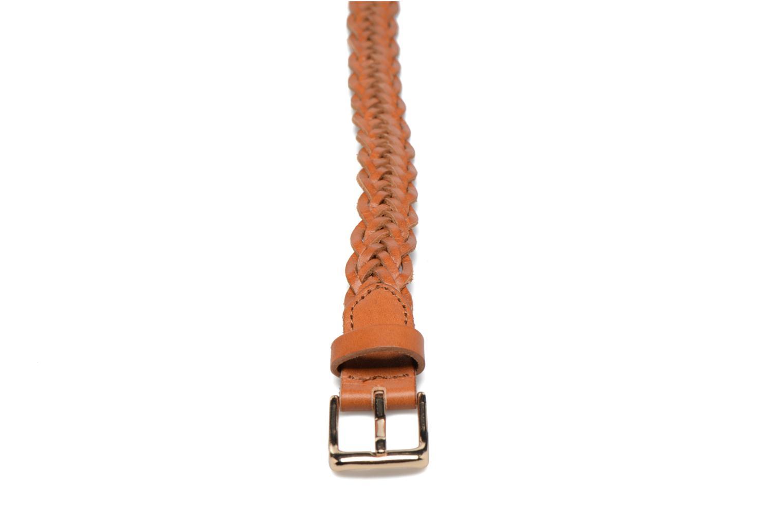 Ceintures Pieces Jussy Leather Jeans belt 25mm Marron vue portées chaussures