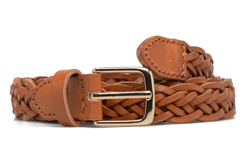 Ceintures Pieces Jussy Leather Jeans belt 25mm Marron vue détail/paire