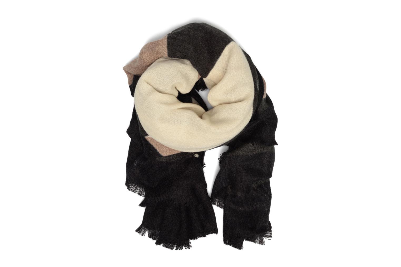 Jorun Square scarf 140x140 Black/ginger snap