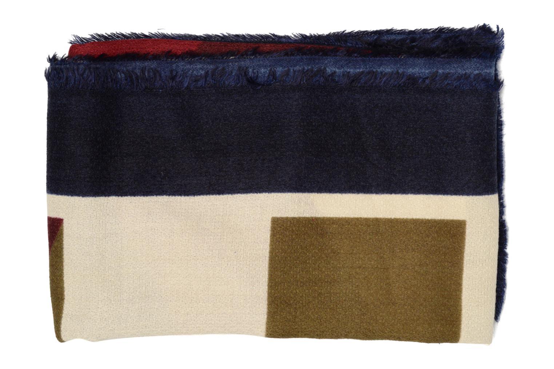 Divers Pieces Jorun Square scarf 140x140 Bleu vue portées chaussures
