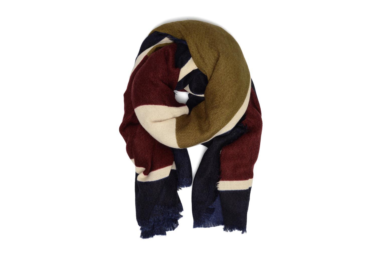 Jorun Square scarf 140x140 Navy blazer/rumba red